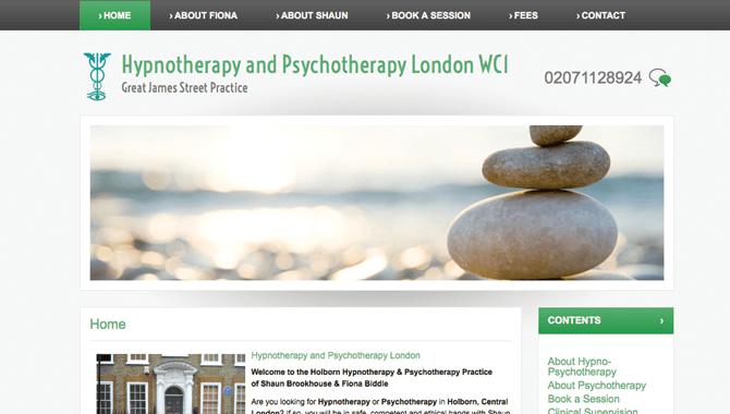 Psychotherapy & Hypnotherapy London WC1